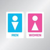 Toaletu znamení — Stock vektor