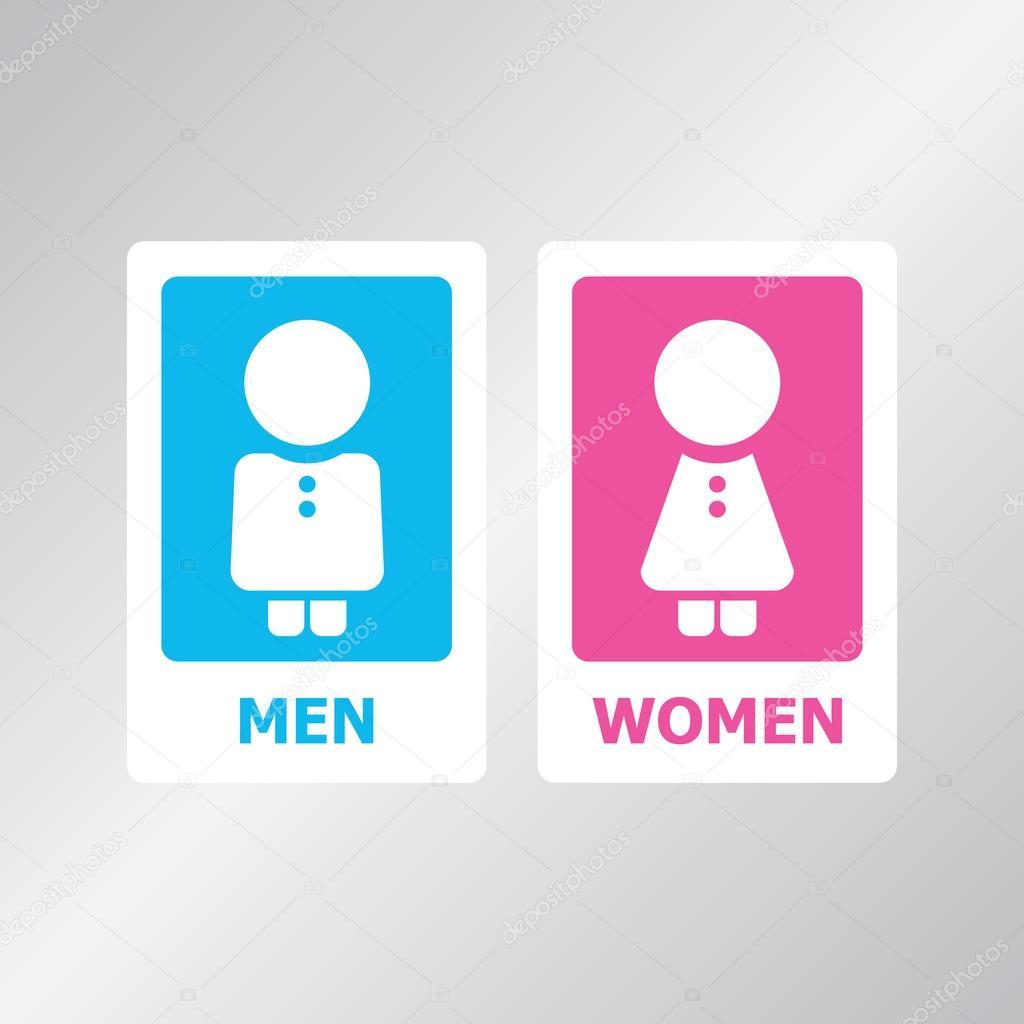 Conjunto de placa de banheiro — Ilustração de Stock #45296717 #0795C4 1024 1024