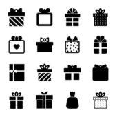 Ikona pola prezent — Wektor stockowy
