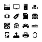 Computer hardware icon — Stock Vector