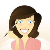 Makeup beauty — Stock Vector