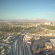 Stock Video: Aerial shot of Las Vegas freeway daytime