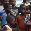 Unhappy African children — Stock Video