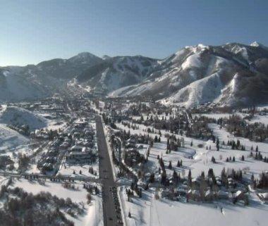 Aerial shot of Park city Utah — Stock Video