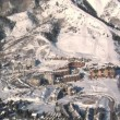 Aerial shot of the canyons resort Park city Utah — Stock Video