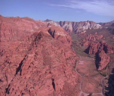 Aerial shot of Snow Canyon State Park St. George Utah — Stock Video