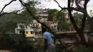 Driving shot of hillside neighborhoods Port-au-Prince Haiti — Stock Video