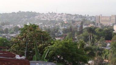 Szeroko strzał z port-au-prince haiti — Wideo stockowe