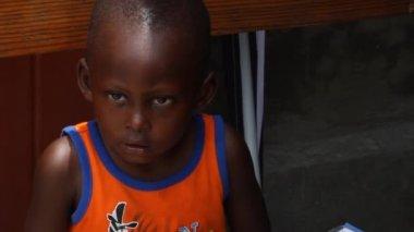 Young Haitian boy — Stock Video
