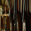 Stringed instruments and worker smoothing wood — Vidéo
