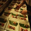 Sushi chef makes large quantities — Stock Video