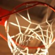 Basketball hoop from below — Stock Video