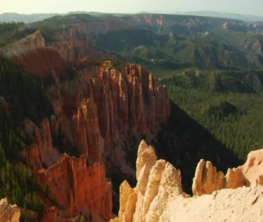 Bryce Canyon national Park overlook — Stock Video
