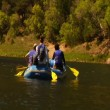 River Rafting in the Mountains — Stock Video