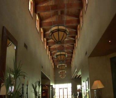 Large resort hotel — Stock Video