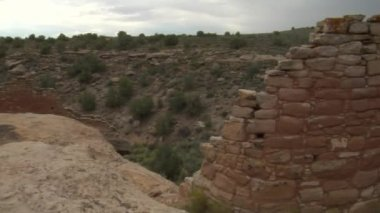 Ruins at Hovenweep national Monument — Stock Video