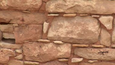 Bricks and mortar on the ruins — Stock Video