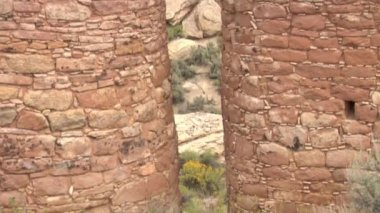 Revealing ruins at  Hovenweep national Monument — ストックビデオ