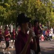 Stock Video: Marching band in parade
