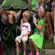 Stock Video: Children watch parade