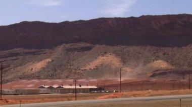 Wind blows uranium tailings near Moab Utah — Vídeo de Stock