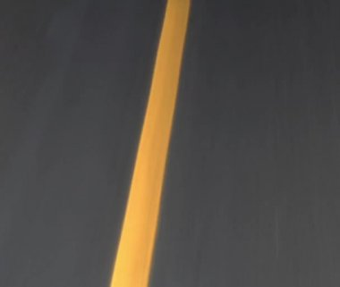 Yellow lines on highway pass steadily — Vídeo de Stock