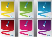 Peinture multicolore — Vecteur