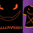 Halloween Tshirt — Stock Vector