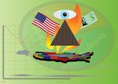 The United States economy — Vector de stock
