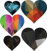 Triangles are hearts — Stock Vector