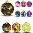 New Years balls — Stock Vector