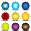 Stock Vector: New Years balls