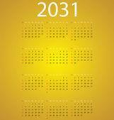 Calendar 2031 — Stock Vector