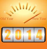 New Year 2014 — Stok Vektör