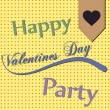 Stock Vector: Happy Valentines Day Party
