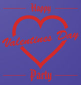 Happy Valentines Day Party — 图库矢量图片