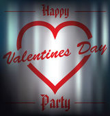 Happy Valentines Day Party — Stock Vector