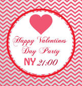 Happy Valentines Day Party — Vettoriale Stock