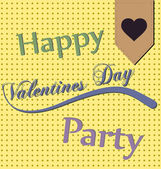 Happy Valentines Day Party — Vector de stock
