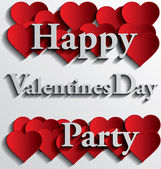Happy Valentines Day Party — Stok Vektör