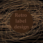 Retro label design — Stock Vector