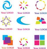 Set of design logos — Stock Vector