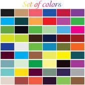 Uppsättning färger — Stockvektor