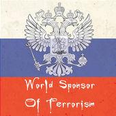 World sponsor of terrorism — Stock Vector