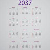 Calendar 2037 — Cтоковый вектор