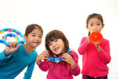 Children with musical instruments — Stock Photo