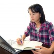 Girl with notebook — Stock Photo #19096501