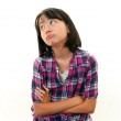 A teenage girl uneasy look — Stock Photo #19096897