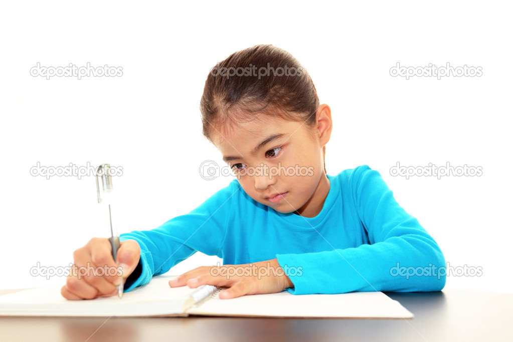 Child Studying — Stock Photo #19154487