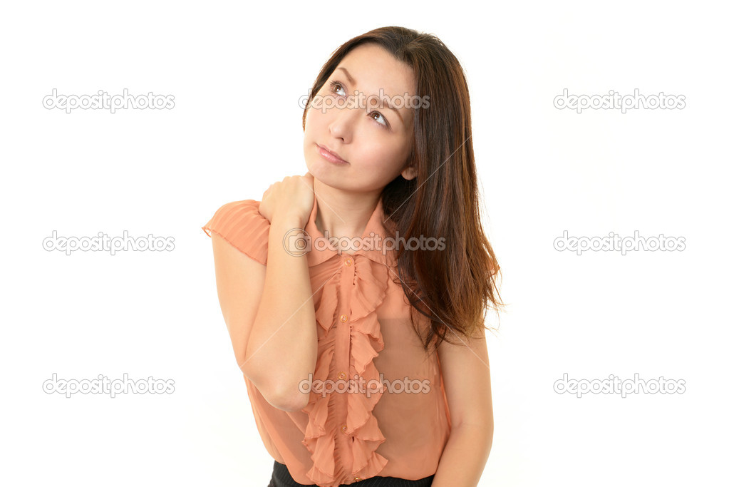 Woman with shoulder neck pain.  Stock Photo #19154557